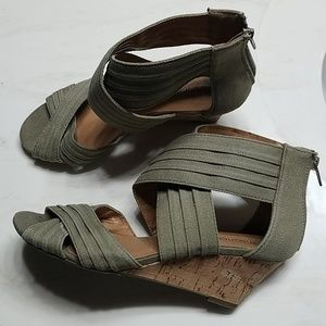Maurices Criss Cross Wedge Sandals